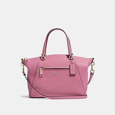 Image of Coach Australia LI/ROSE PRAIRIE SATCHEL IN POLISHED PEBBLE LEATHER