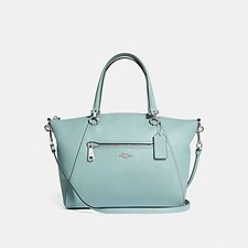 Image of Coach Australia SV/SAGE PRAIRIE SATCHEL IN POLISHED PEBBLE LEATHER