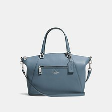 Image of Coach Australia SV/SLATE PRAIRIE SATCHEL IN POLISHED PEBBLE LEATHER