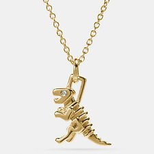 Image of Coach Australia GOLD MINI REXY NECKLACE