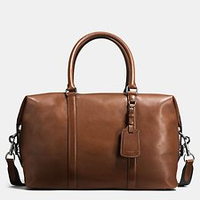 Image of Coach Australia QB/DARK SADDLE EXPLORER BAG IN SPORT CALF LEATHER