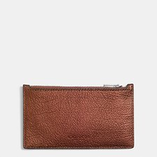 Picture of ZIP CARD CASE IN METALLIC LEATHER