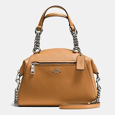 Picture of CHAIN PRAIRIE SATCHEL IN POLISHED PEBBLE LEATHER