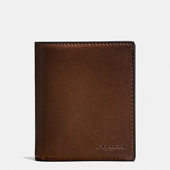 Image of Coach Australia  SLIM COIN WALLET IN SPORT CALF LEATHER