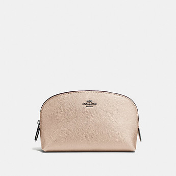 Image of Coach Australia  COSMETIC CASE 17 IN METALLIC LEATHER