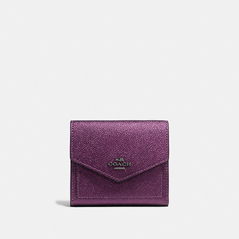 Image of Coach Australia  SMALL WALLET IN METALLIC LEATHER