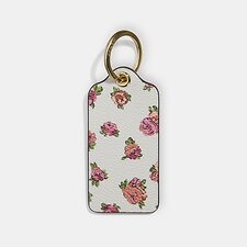 Image of Coach Australia LI/CHALK HANGTAG WITH FLORAL PRINT