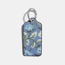 Image of Coach Australia SV/LAPIS HANGTAG WITH FLORAL PRINT