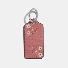 Image of Coach Australia SV/WINE HANGTAG WITH FLORAL PRINT