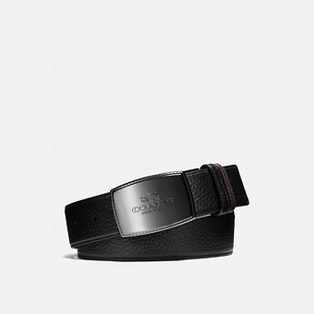 Image of Coach Australia  STITCHED PLAQUE CUT-TO-SIZE REVERSIBLE LEATHER BELT