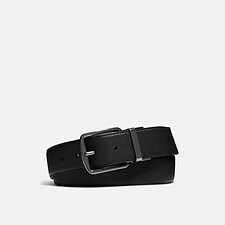 Image of Coach Australia BLACK/MAHOGANY WIDE REGULAR CUT-TO-SIZE REVERSIBLE LEATHER BELT