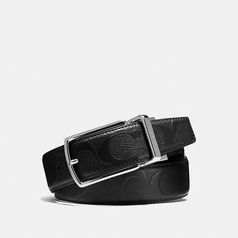 Image of Coach Australia  MODERN HARNESS CUT-TO-SIZE REVERSIBLE SIGNATURE CROSSGRAIN BELT