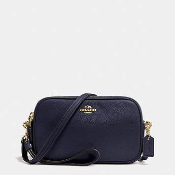 Image of Coach Australia  CROSSBODY CLUTCH IN PEBBLE LEATHER