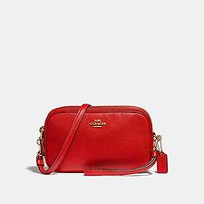 Image of Coach Australia LI/JASPER CROSSBODY CLUTCH IN PEBBLE LEATHER