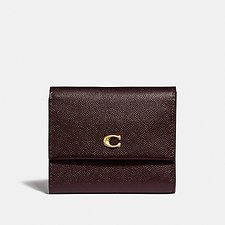 Image of Coach Australia B4/OXBLOOD SMALL FLAP WALLET