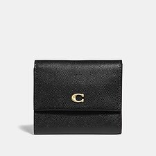 Image of Coach Australia B4/BLACK SMALL FLAP WALLET