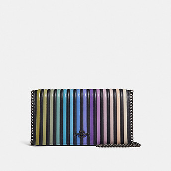 Image of Coach Australia  CALLIE FOLDOVER CHAIN CLUTCH WITH OMBRE QUILTING