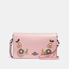 Image of Coach Australia B4/BLOSSOM HAYDEN FOLDOVER CROSSBODY CLUTCH WITH TEA ROSE STONES