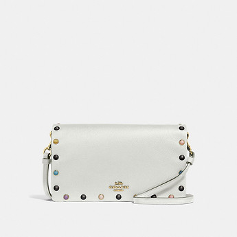 Image of Coach Australia  HAYDEN FOLDOVER CROSSBODY CLUTCH WITH RIVETS