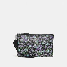 Image of Coach Australia SV/BLACK SMALL WRISTLET WITH POSEY CLUSTER PRINT