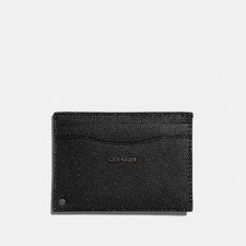 Image of Coach Australia BLACK SWIVEL CARD CASE