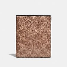 Image of Coach Australia KHAKI SLIM WALLET IN SIGNATURE CANVAS