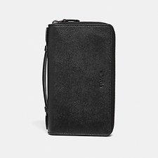 Image of Coach Australia BLACK DOUBLE ZIP TRAVEL ORGANIZER