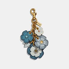 Image of Coach Australia B4/DARK DENIM TEA ROSE MIX BAG CHARM