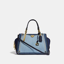 Image of Coach Australia B4/MEDIUM DENIM DREAMER 21 IN COLORBLOCK