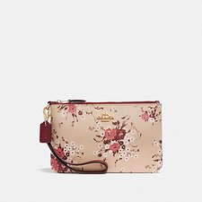 Image of Coach Australia GD/BEECHWOOD SMALL WRISTLET WITH FLORAL BUNDLE PRINT