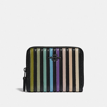 Image of Coach Australia  SMALL ZIP AROUND WALLET WITH OMBRE QUILTING