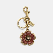 Image of Coach Australia B4/BRIGHT CORAL TEA ROSE BAG CHARM