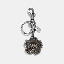 Image of Coach Australia SV/TEAL TEA ROSE BAG CHARM
