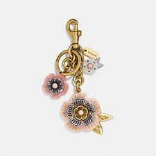 Image of Coach Australia B4/LIGHT CORAL TEA ROSE MIX BAG CHARM