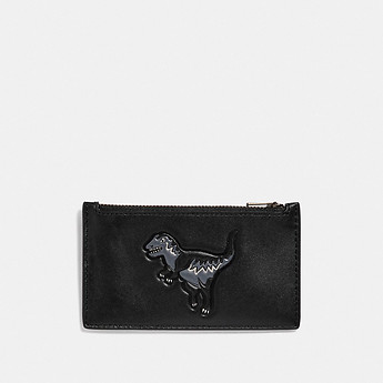 Image of Coach Australia  ZIP CARD CASE WITH REXY