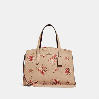 Image of Coach Australia  CHARLIE CARRYALL WITH FLORAL PRINT