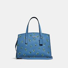 Image of Coach Australia SV/SLATE CHARLIE CARRYALL WITH FLORAL PRINT