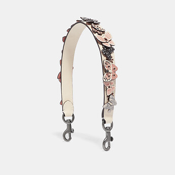 Image of Coach Australia  SHORT STRAP WITH BUTTERFLY APPLIQUE AND SNAKESKIN DETAIL