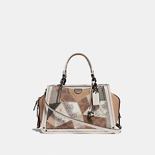 Image of Coach Australia V5/TAN BEECHWOOD MULTI DREAMER 21 WITH SIGNATURE PATCHWORK