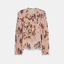 Image of Coach Australia PEACH PEASANT BLOUSE