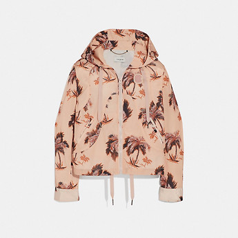 Image of Coach Australia  PALM TREE PRINT WESTERN WINDBREAKER