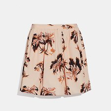 Image of Coach Australia PEACH PALM TREE PRINT MINI SKIRT