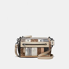 Image of Coach Australia V5/TAN LIGHT TAN SHUFFLE 21 IN MULTI STRIPE SIGNATURE JACQUARD