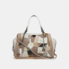 Image of Coach Australia V5/TAN BEECHWOOD MULTI DREAMER 36 WITH SIGNATURE PATCHWORK