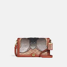 Image of Coach Australia B4/TAN RUST DISNEY X COACH SIGNATURE RILEY WITH EMBELLISHED DUMBO