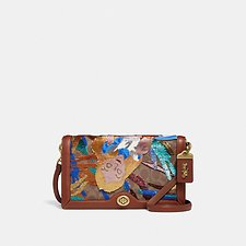Image of Coach Australia B4/TAN RUST DISNEY X COACH SIGNATURE RILEY WITH EMBELLISHED ALICE