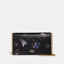 Image of Coach Australia  DISNEY X COACH CALLIE FOLDOVER CHAIN CLUTCH WITH DISNEY MOTIF