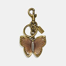 Image of Coach Australia B4/LIGHT PEACH BUTTERFLY BAG CHARM