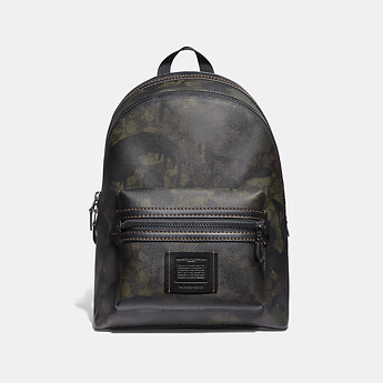 Image of Coach Australia  ACADEMY BACKPACK IN SIGNATURE CANVAS WITH WILD BEAST PRINT