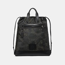 Image of Coach Australia JI/GREEN WILD BEAST SIGNATURE ACADEMY DRAWSTRING BACKPACK IN SIGNATURE CANVAS WITH WILD BEAST PRINT